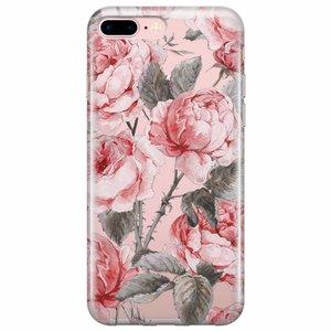 iPhone 8 Plus/7 Plus transparant hoesje - Moody florals