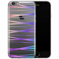 iPhone 6/6s siliconen hoesje - Hologram lines