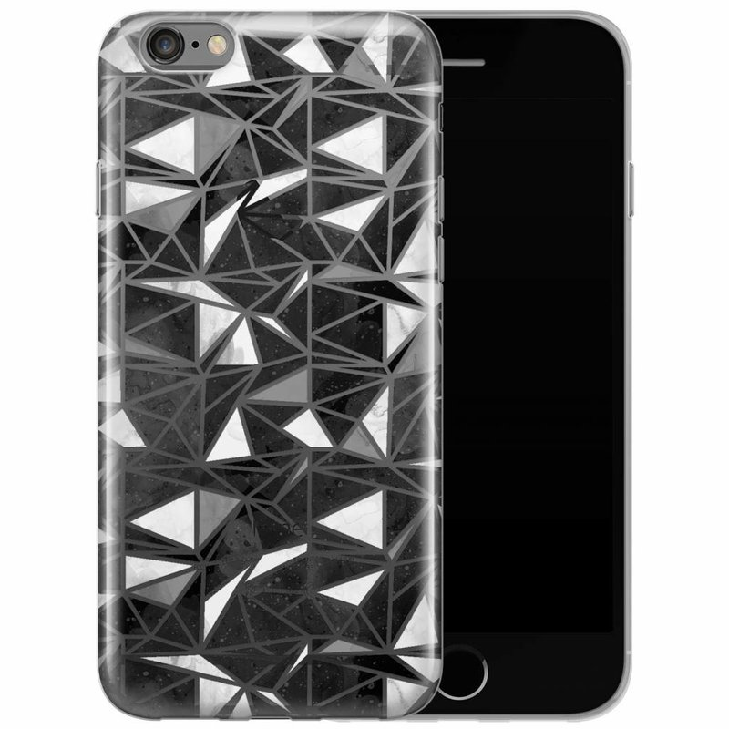 iPhone 6/6s siliconen hoesje - Abstract blocks