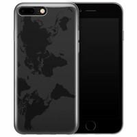 iPhone 7 Plus transparant hoesje - Wereldmap