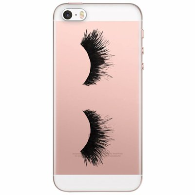 Casimoda iPhone 5/5S/SE transparant hoesje - Lashes