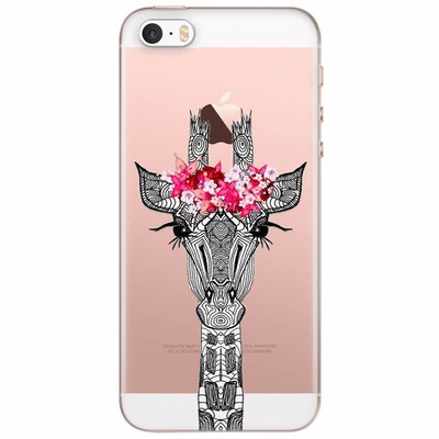 Casimoda iPhone 5/5S/SE transparant hoesje - Giraffe