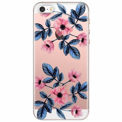 Casimoda iPhone 5/5S/SE transparant hoesje - Floral mood
