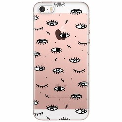 iPhone 5/5s/SE transparant hoesje - Eye see you