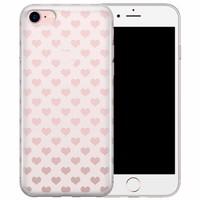 iPhone 8/7 transparant hoesje - Hartjes patroon