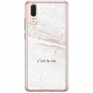 Huawei P20 siliconen hoesje - C'est la vie