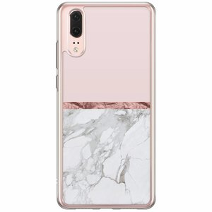 Huawei P20 siliconen hoesje - Rose all day