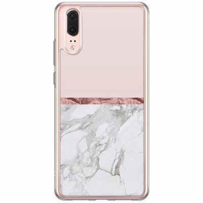 Casimoda Huawei P20 siliconen hoesje - Rose all day