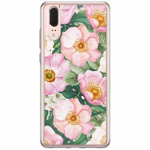 Huawei P20 siliconen hoesje - Spring floral