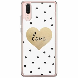 Huawei P20 siliconen hoesje - Love dots