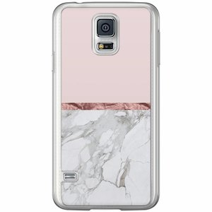 Samsung Galaxy S5 (Plus) / Neo siliconen hoesje - Rose all day