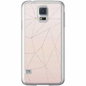 Samsung Galaxy S5 (Plus) / Neo siliconen hoesje - Pastel vlakken
