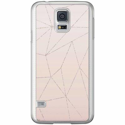 Casimoda Samsung Galaxy S5 (Plus) / Neo siliconen hoesje - Pastel vlakken
