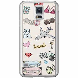 Samsung Galaxy S5 (Plus) / Neo siliconen hoesje - Let's travel
