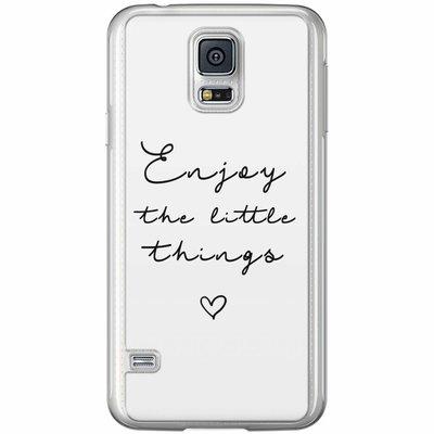 Casimoda Samsung Galaxy S5 (Plus) / Neo siliconen hoesje - Enjoy life