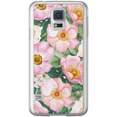Casimoda Samsung Galaxy S5 (Plus) / Neo siliconen hoesje - Spring floral