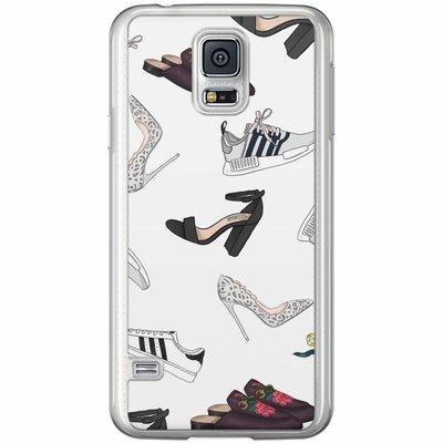 Casimoda Samsung Galaxy S5 (Plus) / Neo siliconen hoesje - Shoe stash