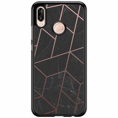 Casimoda Huawei P20 Lite  hoesje - Marble grid