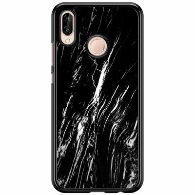 Casimoda Huawei P20 Lite  hoesje - Black marble