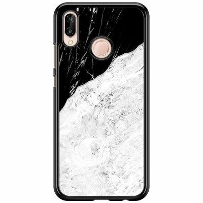 Casimoda Huawei P20 Lite  hoesje - Marmer zwart grijs