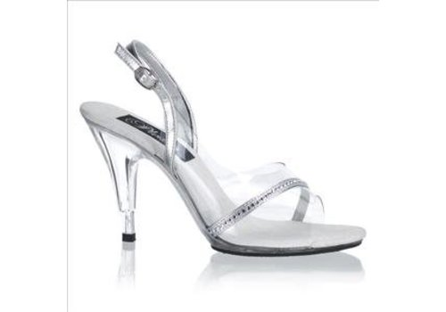 Pleaser Caress 456 Silver Clear