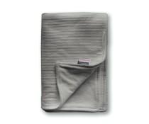 Wiegdeken wafel grijs