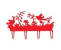 Kapstokje vogels rood