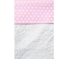 Wieglakentje roze met witte stippen