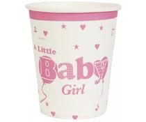 kartonnen beker Baby Girl (10 st.)