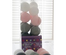 Cotton Ball Lights pink & grey