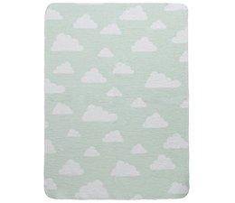 Wiegdeken little clouds mint