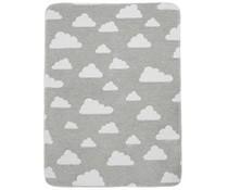 Deken little clouds grijs (ledikant)
