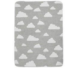 deken little clouds grijs