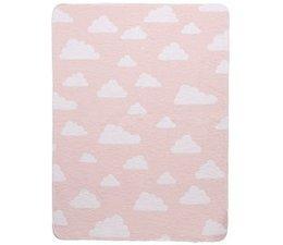 Deken little clouds roze