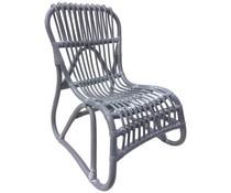 Rotan chair kids grey