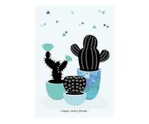 poster Happy Cactus Family S