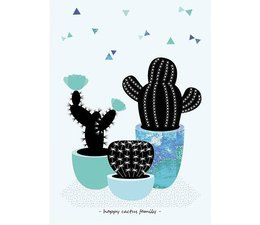 poster Happy Cactus Family