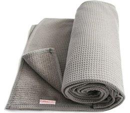 Ledikant deken ongevoerd grijs