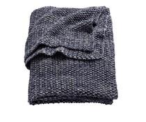 Deken mini knit donkerblauw (ledikant)