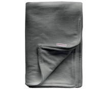 ledikant deken wafelstof grijs gevoerd