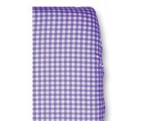 Hoeslakentje wieg ruitje paars