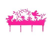Kapstokje vogels roze