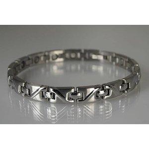8026S Damen Armband matt und glänzend poliert