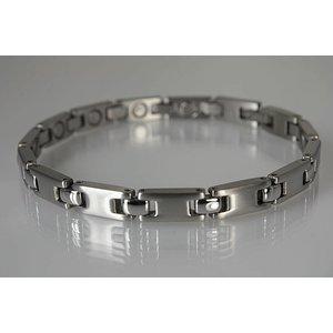 8102S Magnetschmuck Armband für Damen, Silber