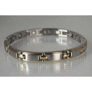 8130B Damen Magnetschmuck Armband bicolor