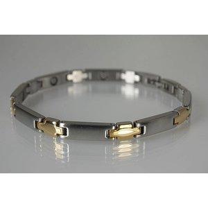 8312B Magnetschmuck Armband für Damen bicolor