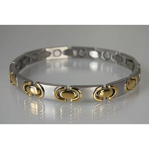 8317B NEU! Magnetschmuck Armband für Damen bicolor