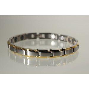 8368B NEU! Magnetschmuck Armband für Damen Stil bicolor
