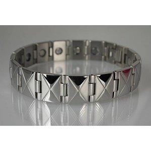 8318S Magnetschmuck Armband für Herren Silber