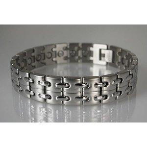 8008S Magnetschmuck Armband für Herren Silber